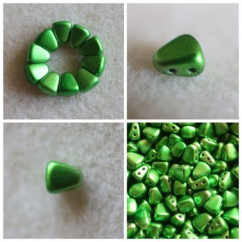 1 NIB-BIT 6X5MM METALUST APPLE GREEN bead (Nib Bit Matubo)
