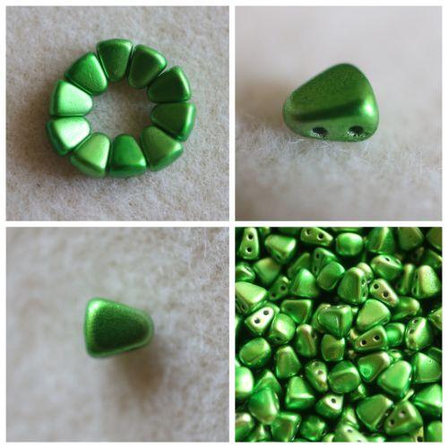 1 NIB-BIT 6X5MM METALUST APPLE GREEN bead