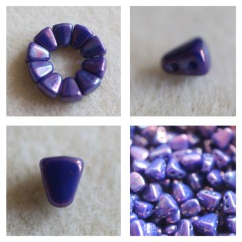 1 NIB-BIT 6X5MM ROYAL BLUE NEBULA bead (Nib Bit Matubo)