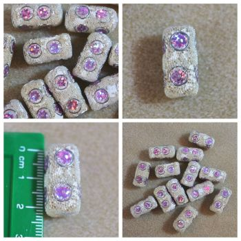 Indonesia White & Purple Bead