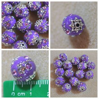 Indonesia Purple Bead