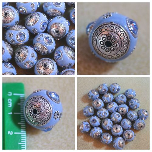 1 Blueish Indonesia Bead