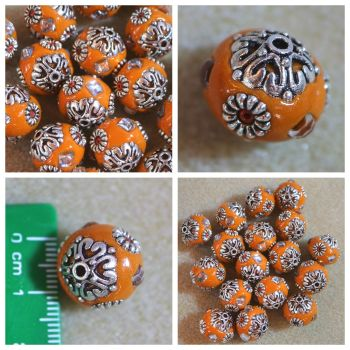 Indonesia Orange Bead