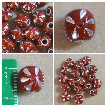 Indonesia Red Flat Bead