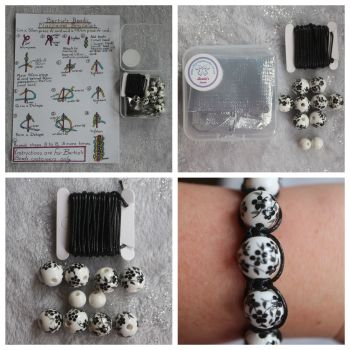 DIY Macrame Bracelet Black Bead Kit