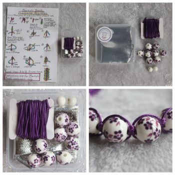 DIY Macrame Bracelet Purple Bead Kit