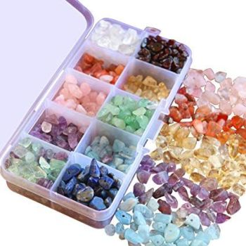 A Box of Chakra Gemstone Beads
