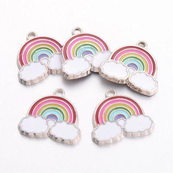Rainbow Enamel Pendant