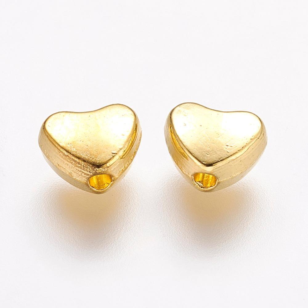 Golden Heart Bead