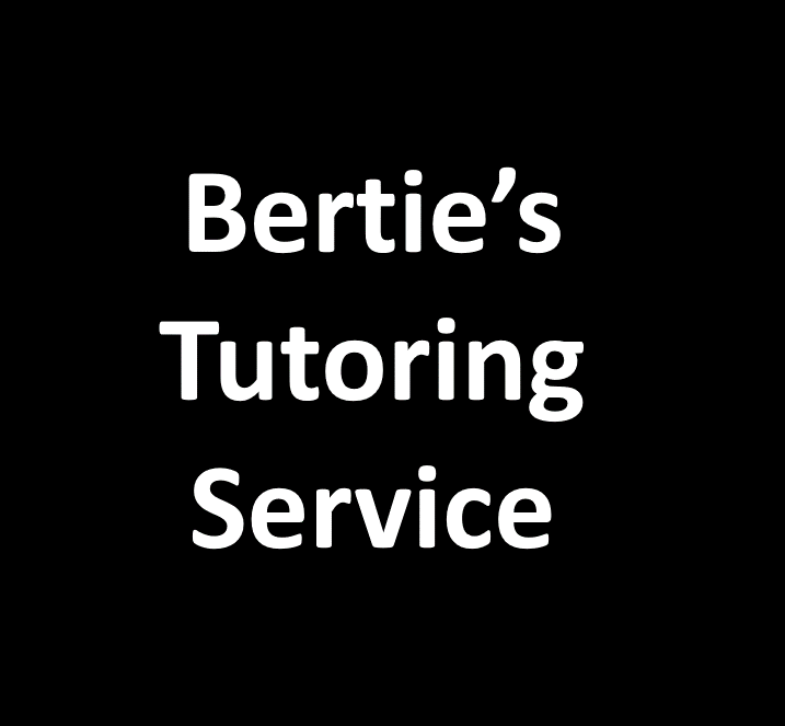 Bertie's Tutoring Service Easter Revision