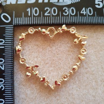 Heart with Flowers Open Back Bezel Pendant