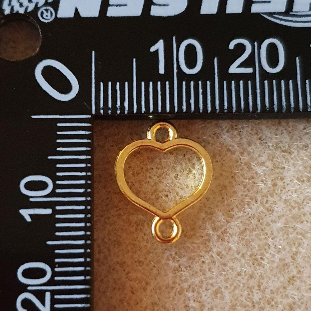 Heart Open Back Bezel Link
