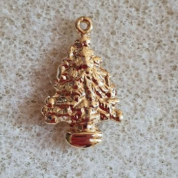 Christmas Tree Gold Plated Pendant