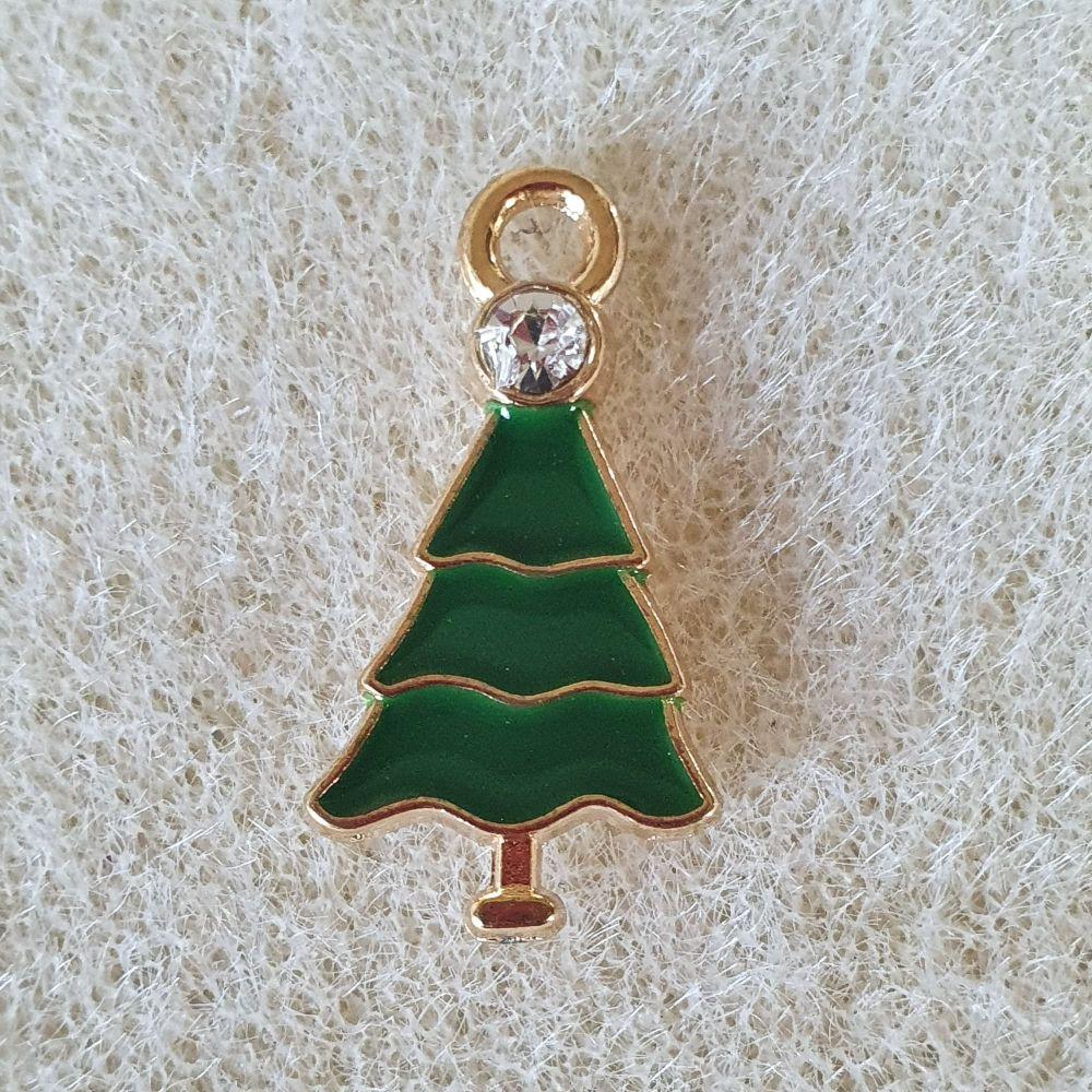 Rhinestone Christmas Tree Pendant