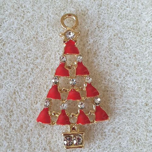 Red Christmas Tree Pendant