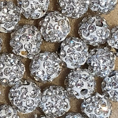 Disco Pave 8mm Bead Crystal