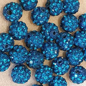 Disco Pave 8mm Bead Blue