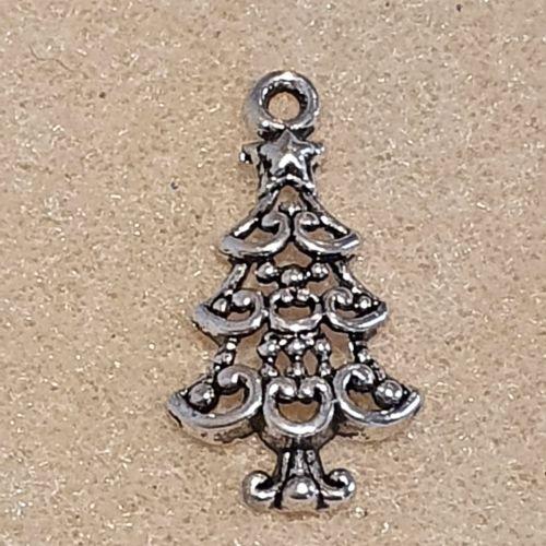 Christmas Tree Tibetan Style  Pendant
