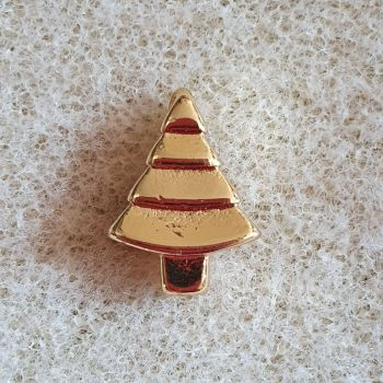 Christmas Tree Golden Pendant
