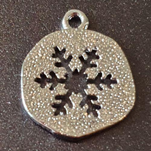 Snowflake Real Platinium Plated Charm