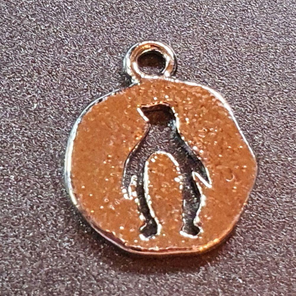 Penguin Real platinum Plated Pendant