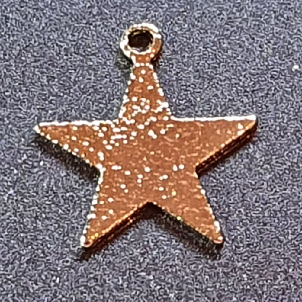 Star Golden Plated Charm