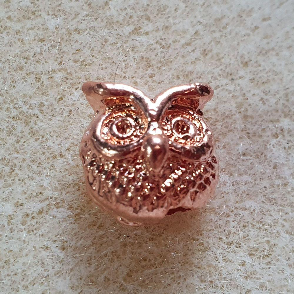 Rose Gold Owl Bead