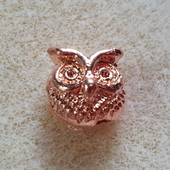 Rose Gold Owl Bead