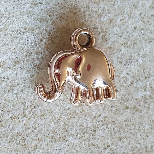 Rose Gold Elephant Charm