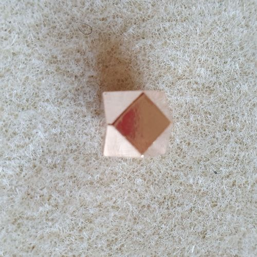 Rose Gold Polygon Bead