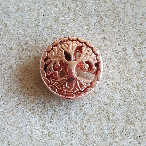 Rose Gold Tree of Life Bead