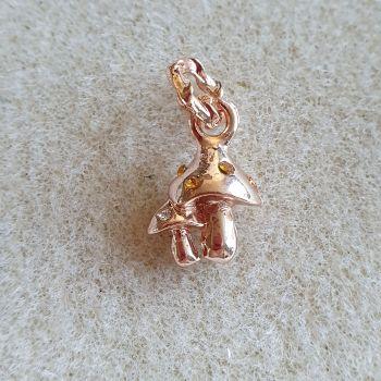 Rose Gold Mushroom Charm