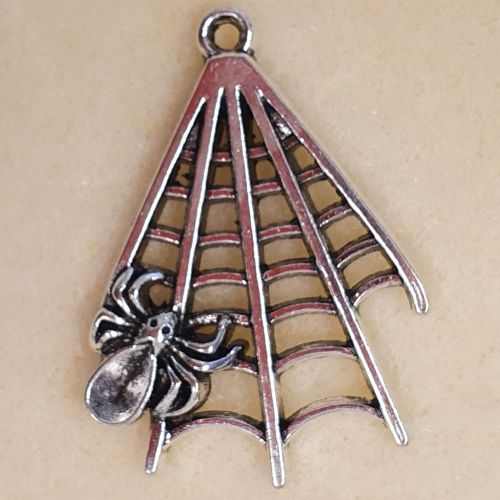 Cobweb Silver Colour Metal Pendant