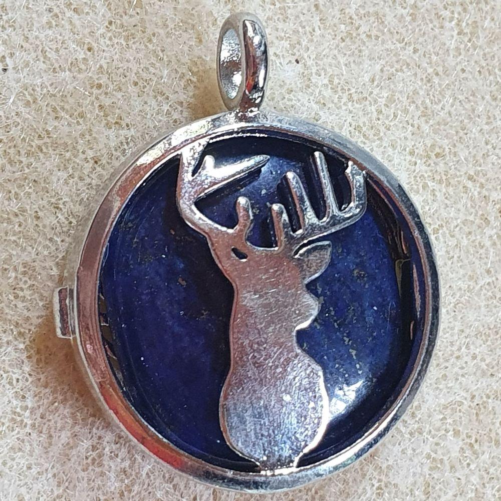 Lapis Lazuli Deer Pendant