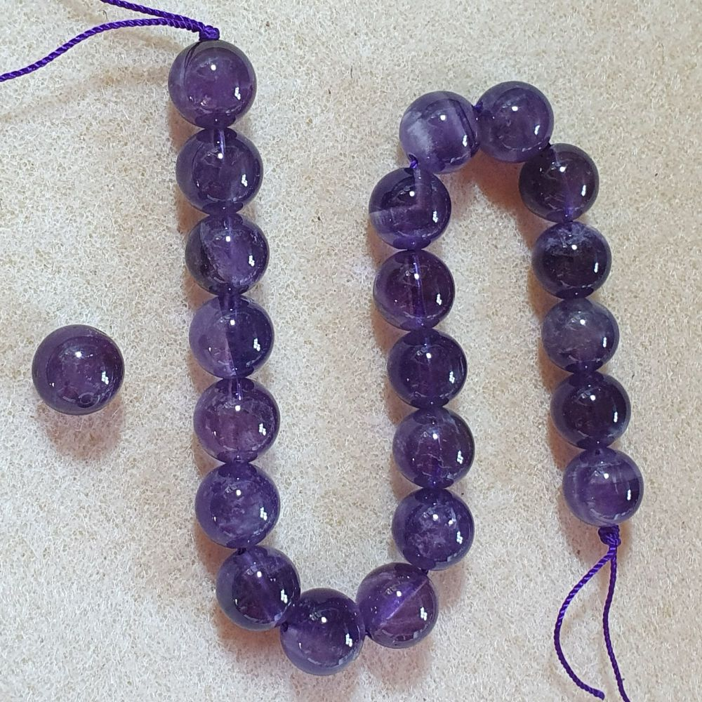 Amethyst Beads 10mm