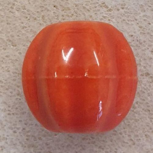 Pumpkin Porcelain Bead