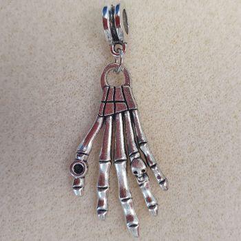 Skeleton Hand Silver Colour Metal Pendant