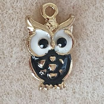 Owl Enamel Metal Charm