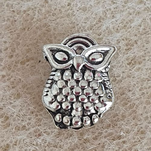 Owl Tibetan Style Silver Bead