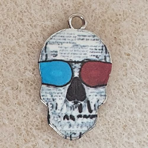 Skull with Spectacles Charm