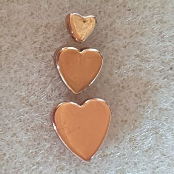 Rose Gold Heart 4 or 6 or 8mm Beads