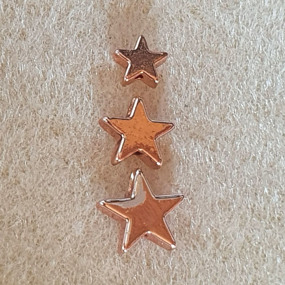 Rose Gold Star 6 or 8 or 10mm Beads
