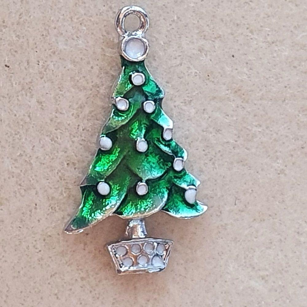 Christmas Tree Green Pendant