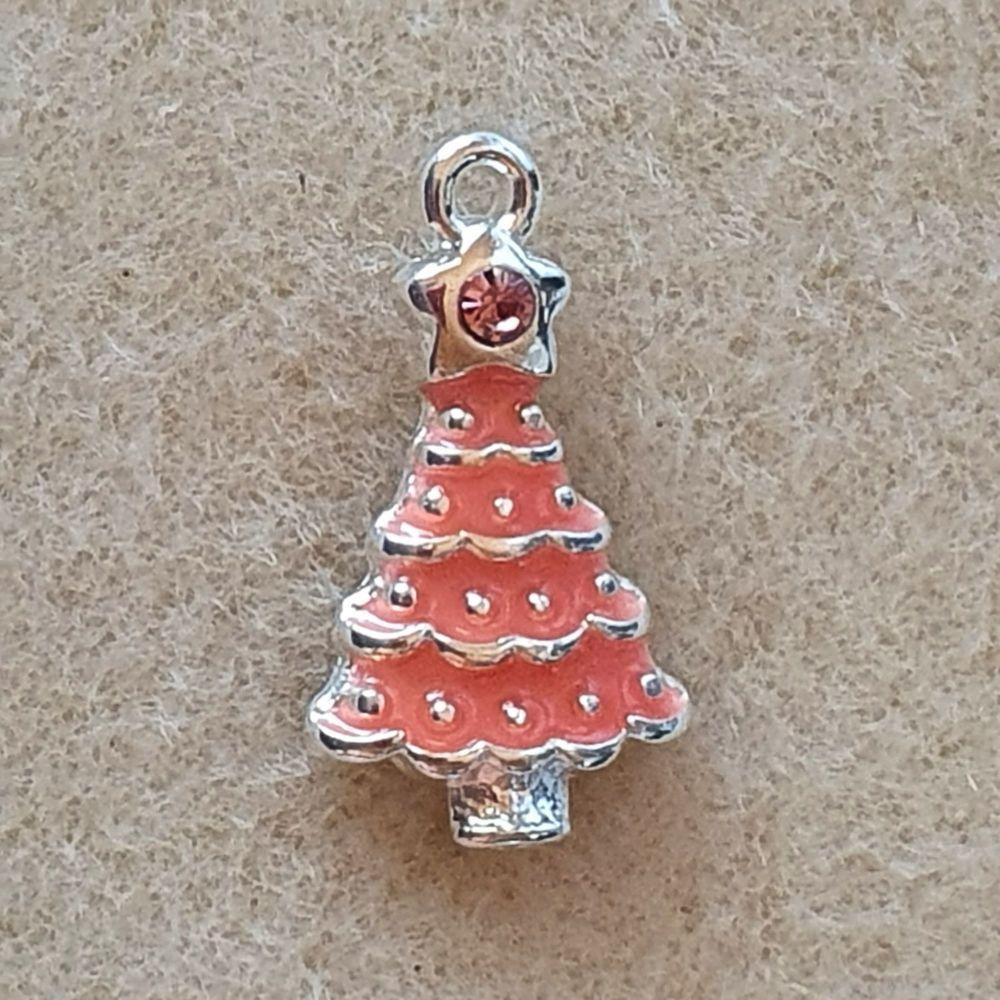 Christmas Tree  Pink Pendant