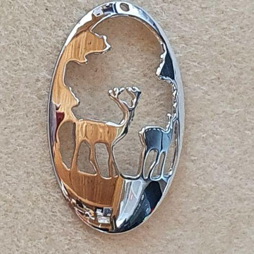 Reindeer Platinum Plated Pendant
