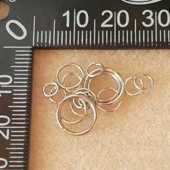 Findings Platinium Assorted Size  Jump Rings