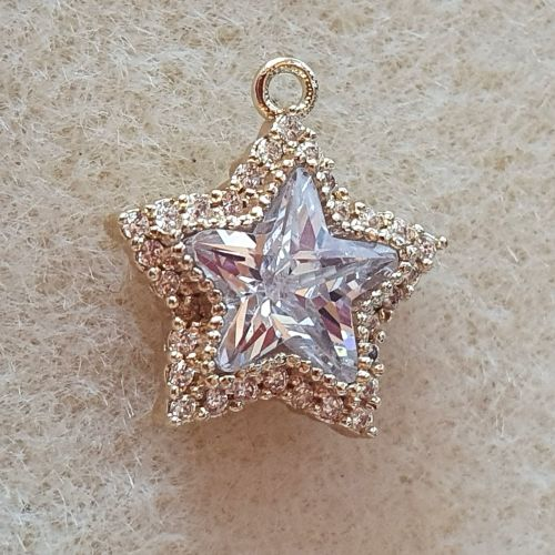 Star Gold Plated Charm
