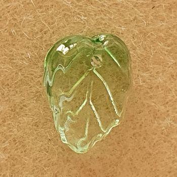 Leaf Lime Green Glass Bead