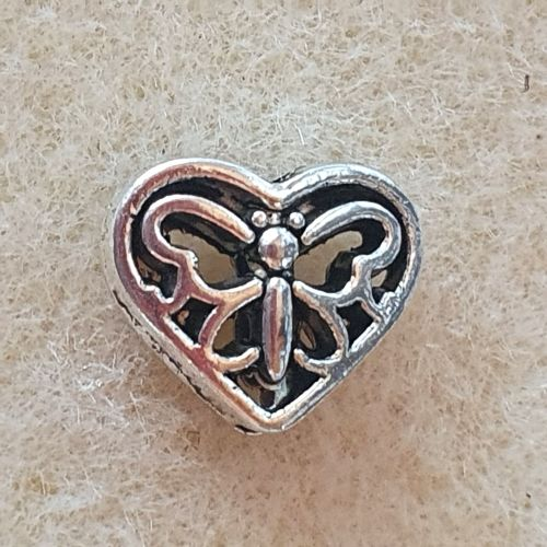 Heart and Butterfly Bead