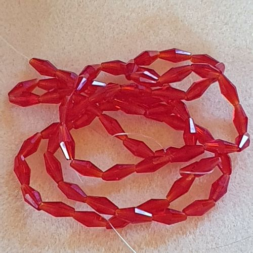 Red Bicone Glass 4mm Beads